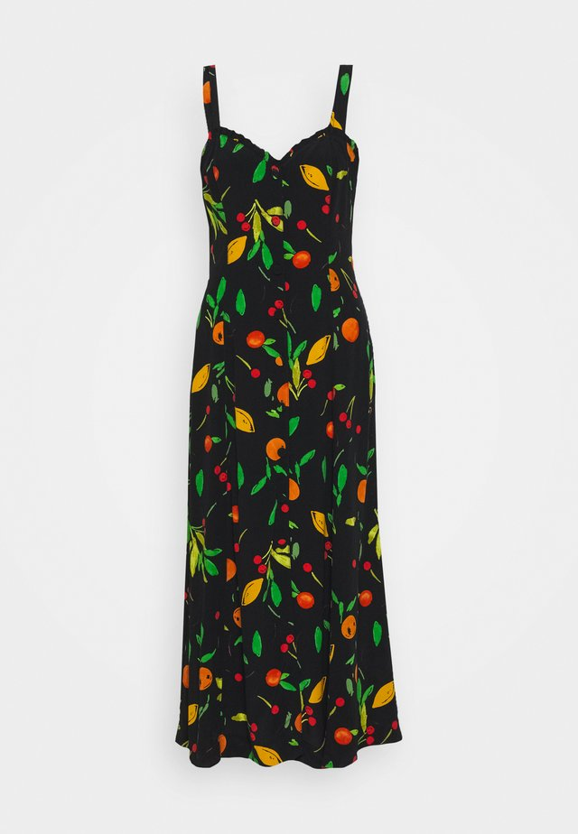 FRUIT PRINT FRILL CUPPED DRESS - Freizeitkleid - multi