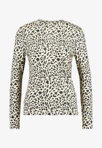 Whistles - BIG CAT PRINT HIGH NECK - Long sleeved top - beige - 4