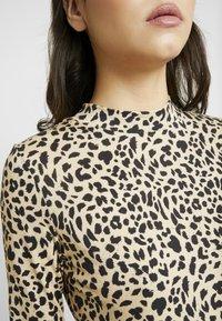 Whistles - BIG CAT PRINT HIGH NECK - Long sleeved top - beige - 5