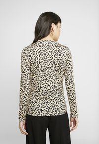 Whistles - BIG CAT PRINT HIGH NECK - Maglietta a manica lunga - beige - 2
