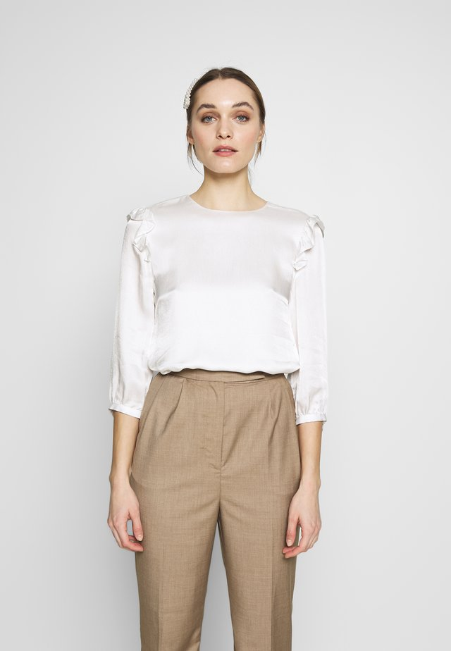 ELLAHAY HAMMERED - Blouse - ivory