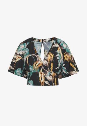 TROPICAL - Button-down blouse - green/multi
