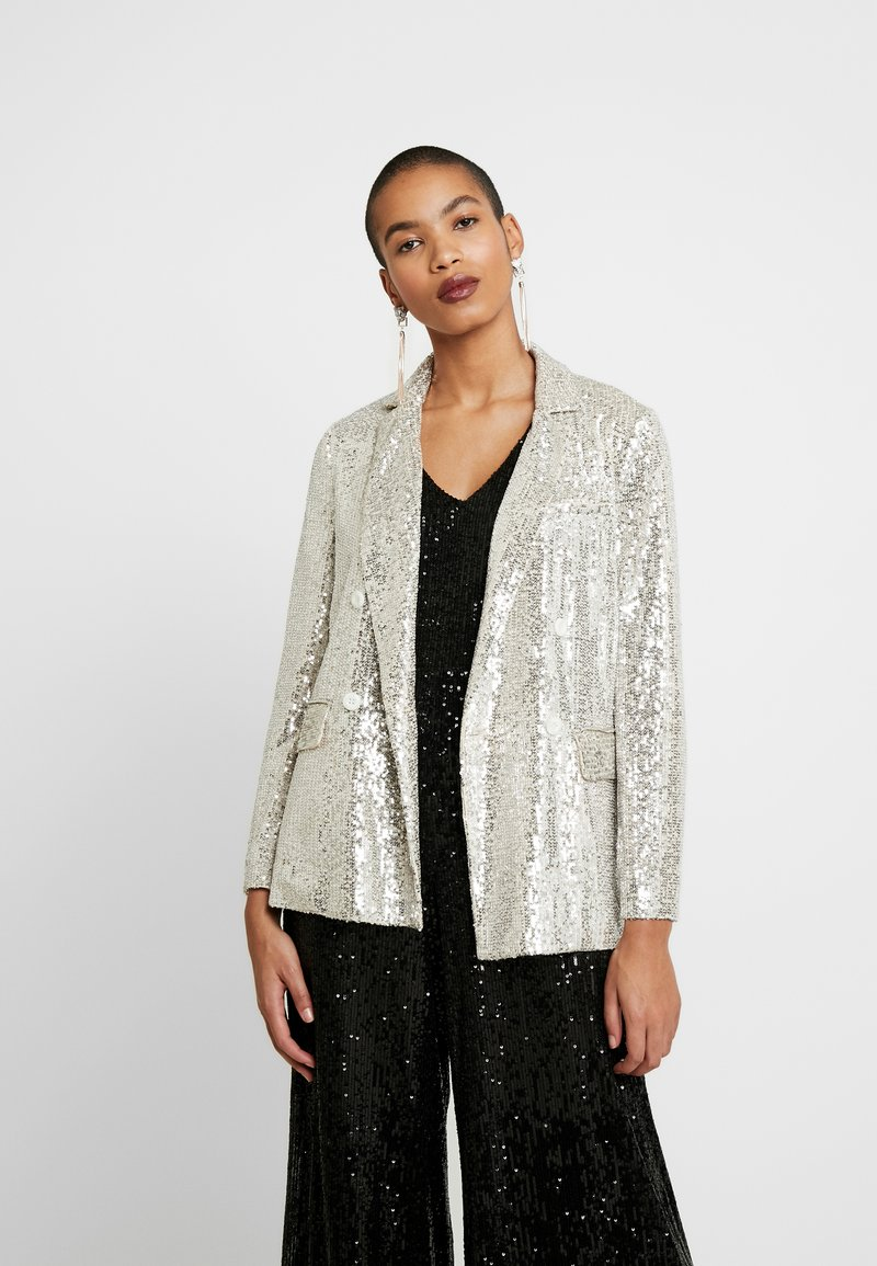 Whistles - DOUBLE BREASTED - Blazer - silver