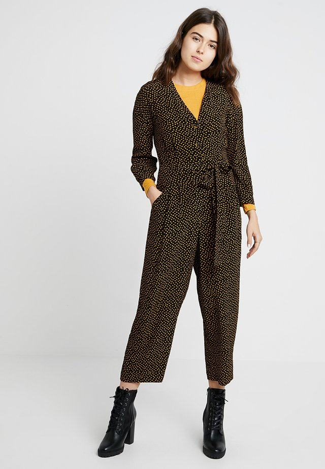 CONFETTI HEART TIE FRONT - Jumpsuit - yellow/multi