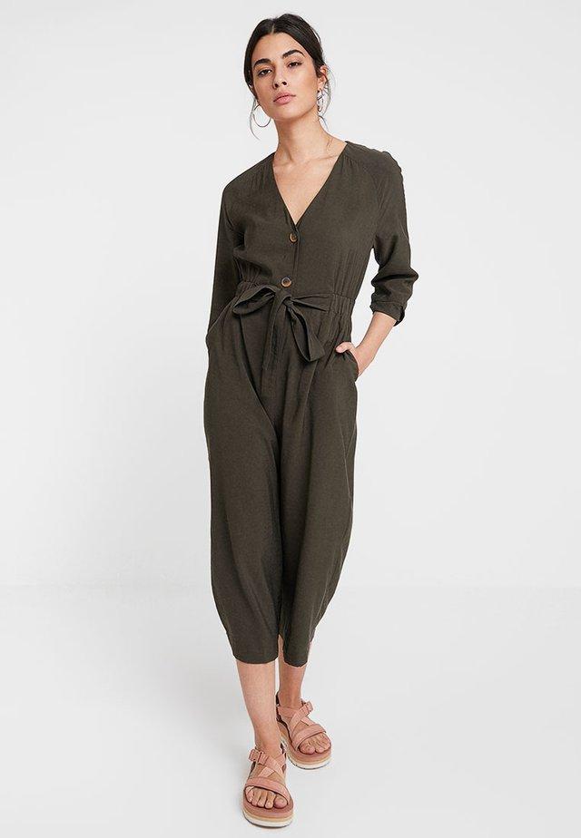LORENA TIE FRONT - Jumpsuit - khaki