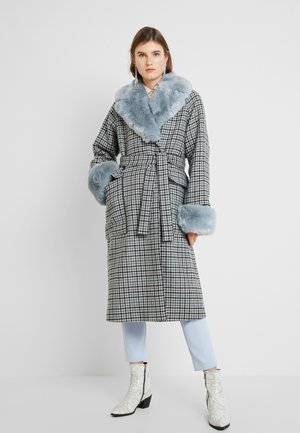 COLLAR COAT - Zimní kabát - light blue
