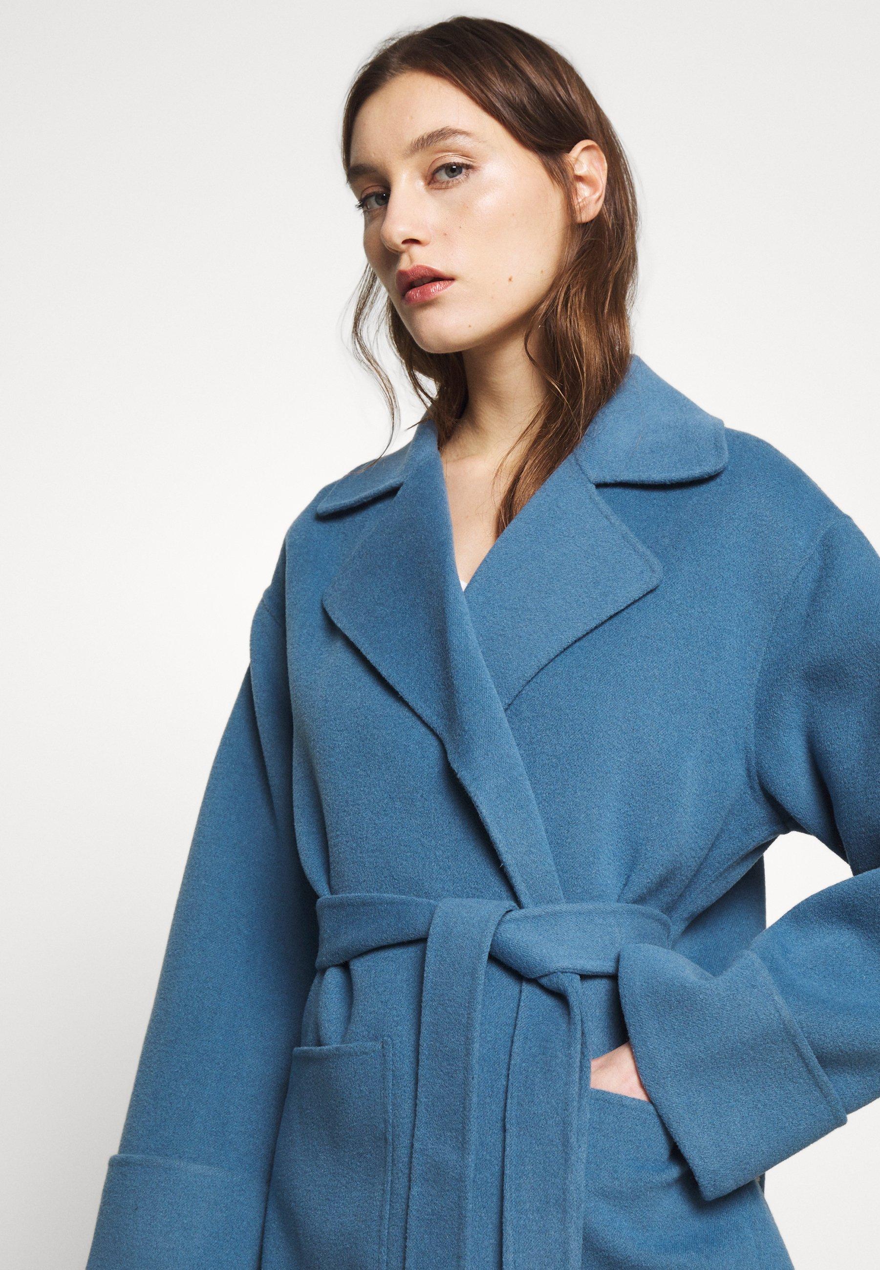 Whistles DOUBLE FACED WOOL WRAP - Płaszcz wełniany /Płaszcz klasyczny - blue