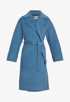 DOUBLE FACED WOOL WRAP - Classic coat - blue