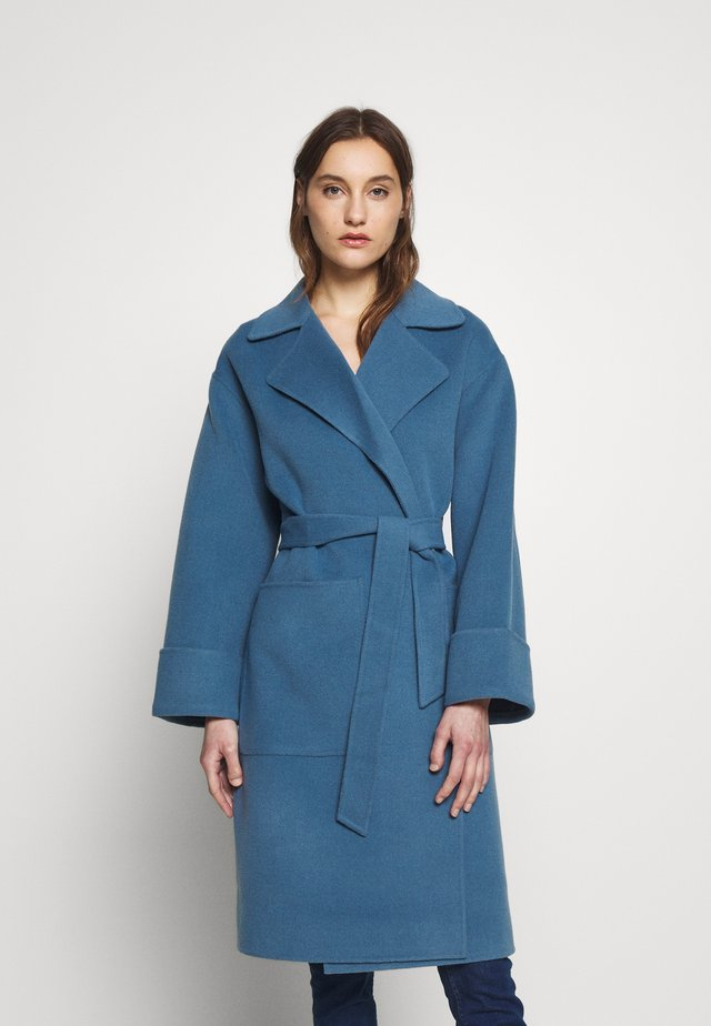 DOUBLE FACED WOOL WRAP - Frakker / klassisk frakker - blue