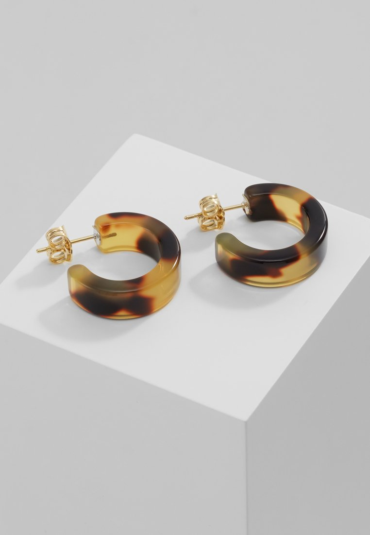 Whistles - MINI TORT HOOP EARRING - Ohrringe - brown/multi