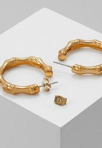 Whistles - BAMBOO HOOP EARRING - Oorbellen - gold-coloured - 2