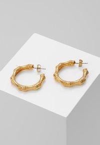 Whistles - BAMBOO HOOP EARRING - Oorbellen - gold-coloured - 0