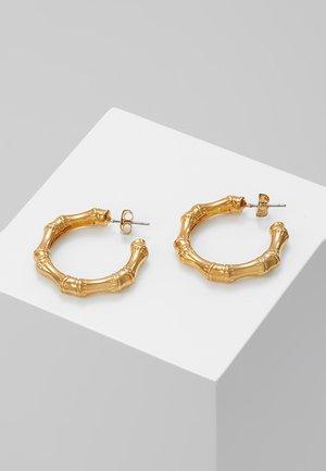BAMBOO HOOP EARRING - Orecchini - gold-coloured