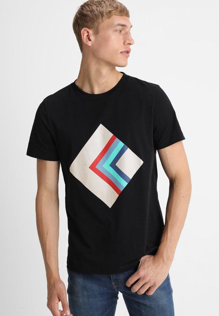 Whyred - ART SYMMETRIC - T-shirt print - black