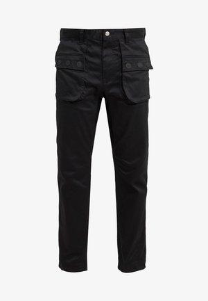 DOUBLE POCKET PANTS - Pantalon classique - black