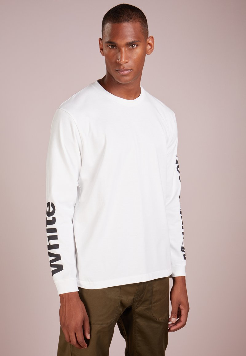 White Mountaineering - LOGO PRINTED SLEEVES  - Sweatshirt - white