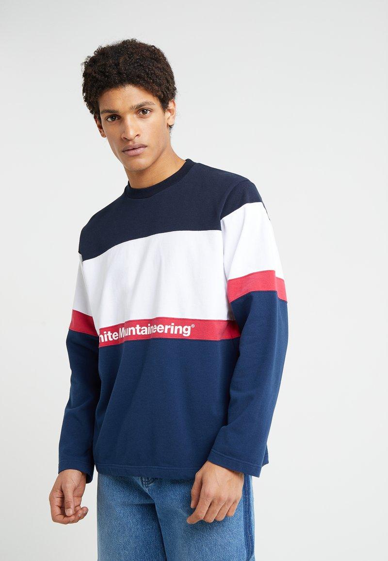 White Mountaineering - CONTRASTED - Sweatshirt - navy