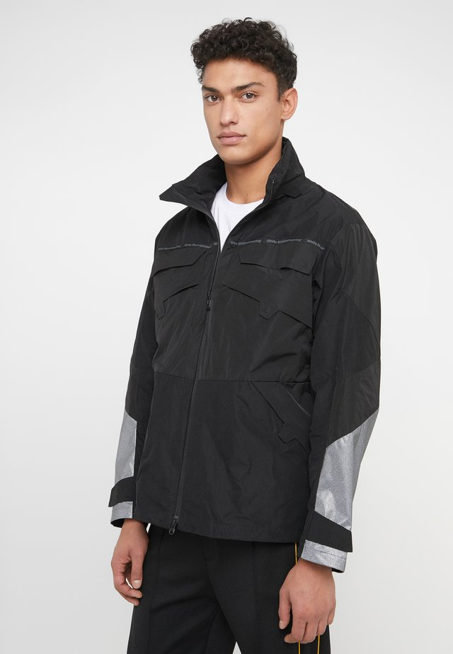 LOGO TAPED TRACK BLOUSON - Outdoor jacket - black