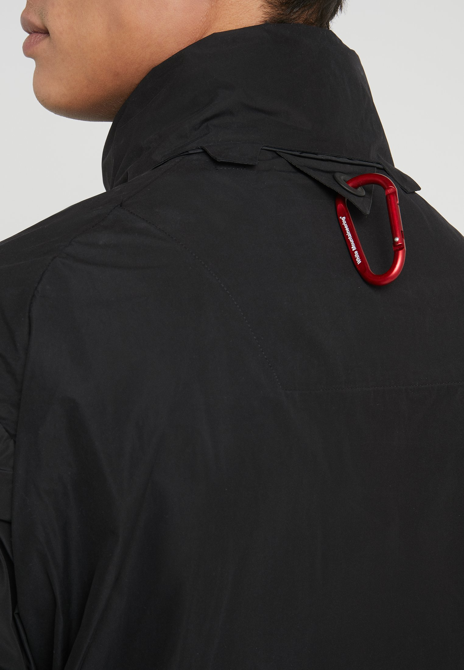 Track Logo White Mountaineering BlousonGiacca Outdoor Black Taped JK1Ful3Tc