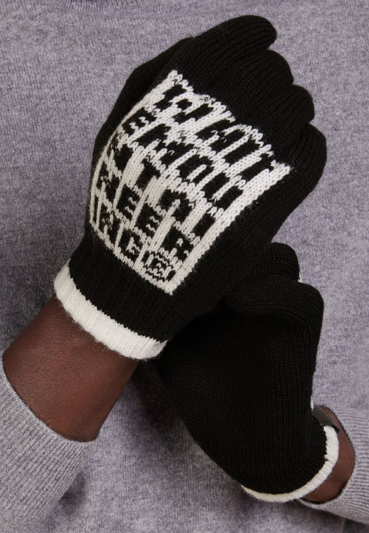 White Mountaineering - LOGO GLOVES - Gloves - black