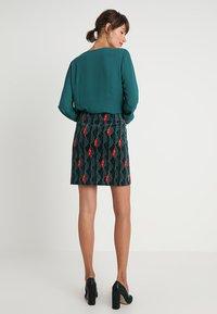 White Stuff - TRAILING LEAVES VELVET SKIRT - A-line skirt - dark green - 2