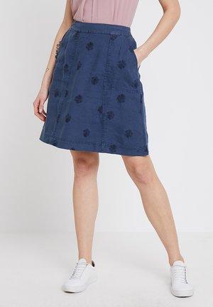 MINI ROLLER  - A-line skirt - navy