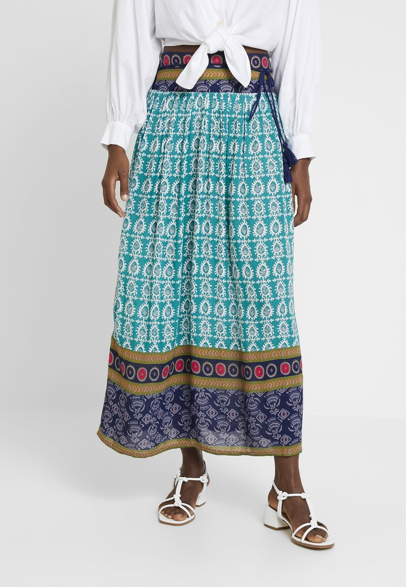White Stuff - DOLORITA CRINKLE SKIRT - Maxirock - multicolor