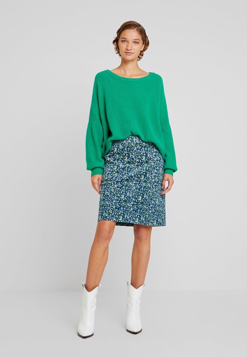 White Stuff - CLOCKTOWER HIGH TIDE SKIRT - Pencil skirt - sea