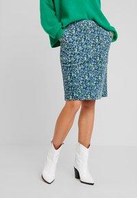 White Stuff - CLOCKTOWER HIGH TIDE SKIRT - Pencil skirt - sea - 2