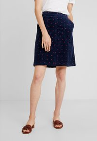White Stuff - CLOCKTOWER EMBROIDED SKIRT - A-line skjørt - navy - 0