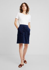 White Stuff - CLOCKTOWER EMBROIDED SKIRT - A-line skjørt - navy - 1