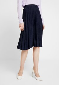 White Stuff - STEM SHIMMER SKIRT - Jupe trapèze - navy - 0