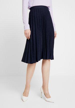 STEM SHIMMER SKIRT - A-line skirt - navy