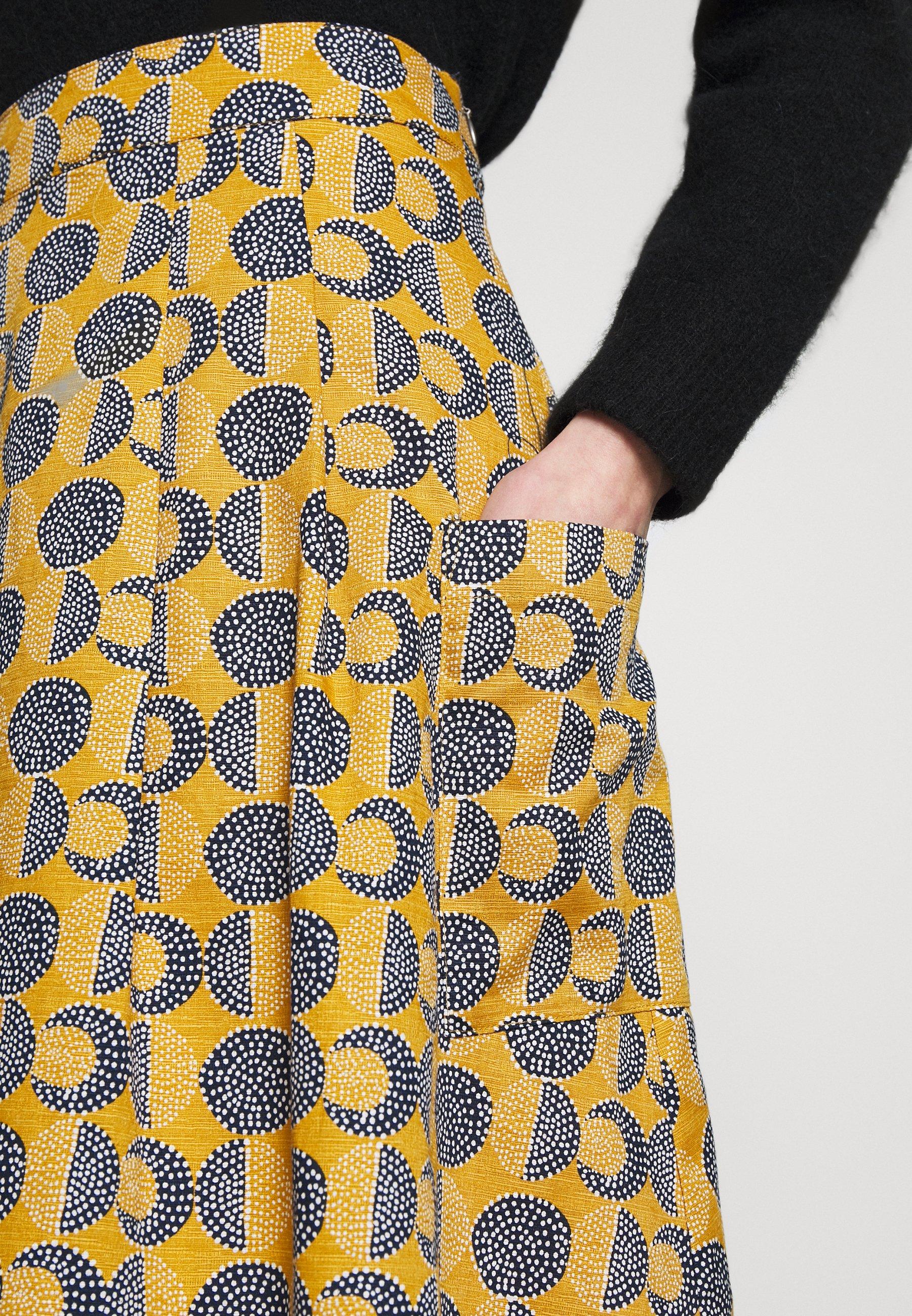 White Stuff CUMULUS CLOUD SKIRT - Spódnica trapezowa - yellow