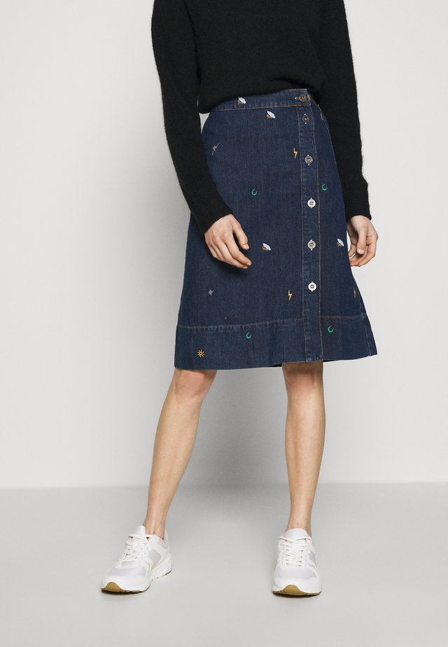 TINT SKIRT - Jupe trapèze - denim