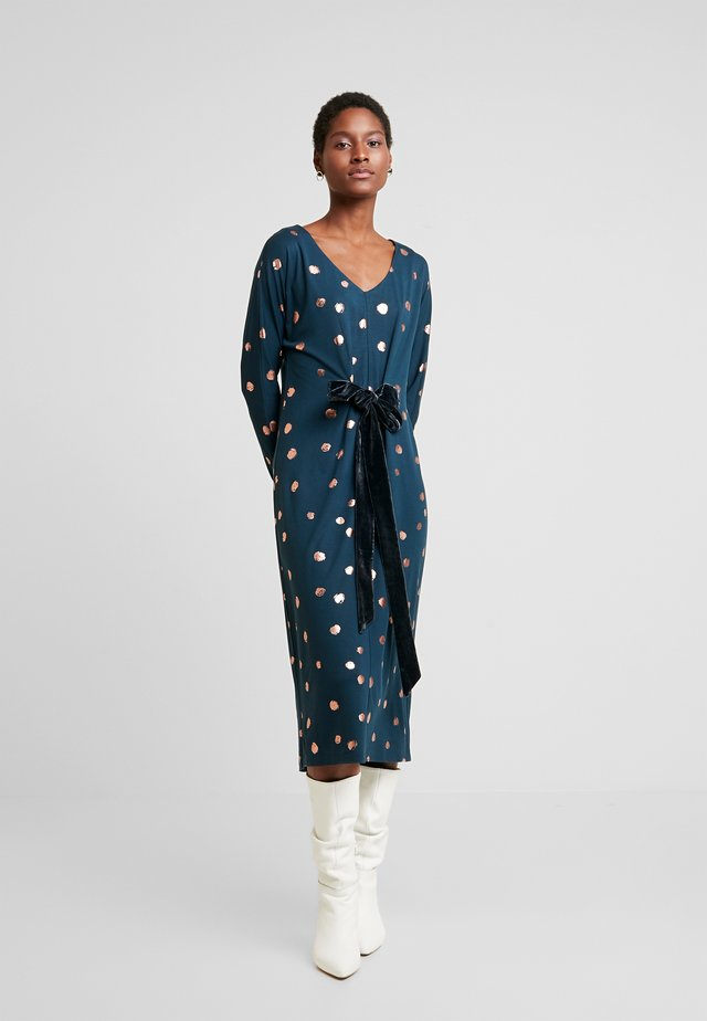 EVA DRESS - Žerzejové šaty - teal