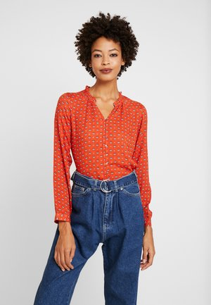 WILLOW - Button-down blouse - red
