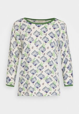 PEACOCK PRINT JUMPER - Strickpullover - blue