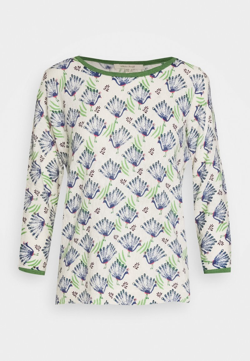 White Stuff - PEACOCK PRINT JUMPER - Strikkegenser - blue