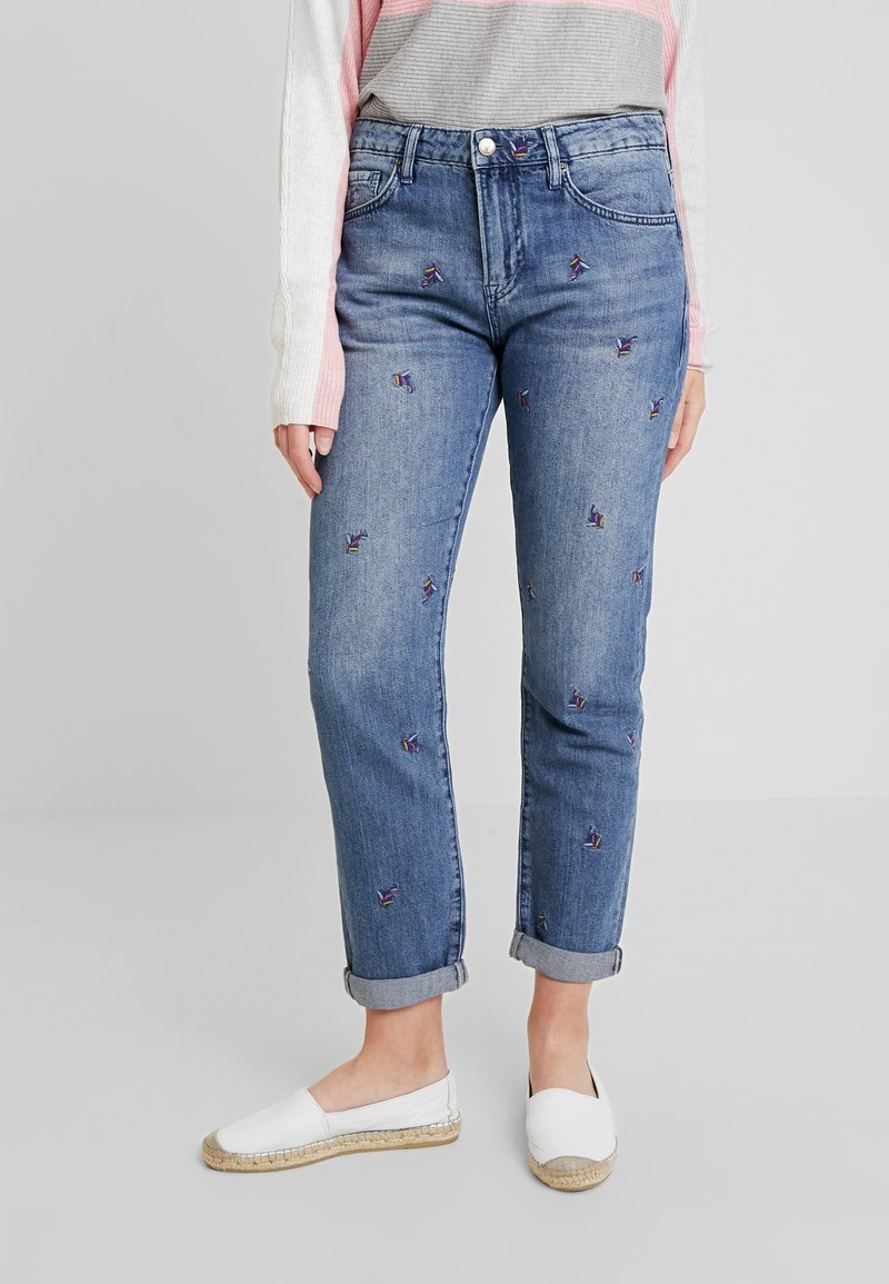White Stuff - FIESTA LEAF BOYFRIEND - Jeans Relaxed Fit - blue denim