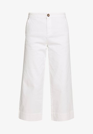 THEA WIDE LEG CROP - Flared jeans - white