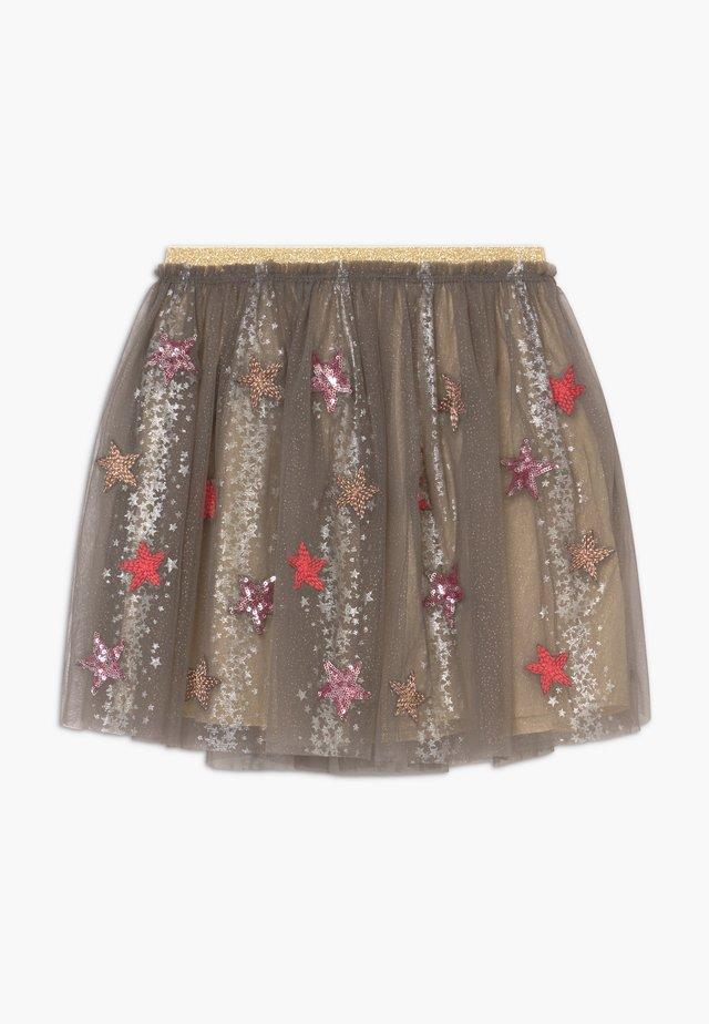 SHOW TIME  - Áčková sukně - metallic