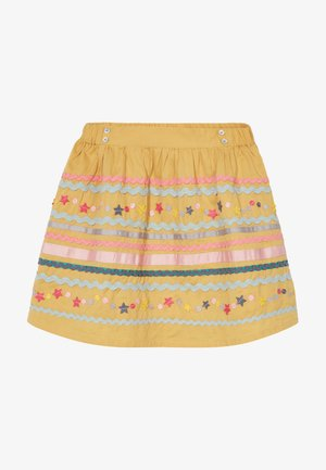 RAMBLER SKIRT - Áčková sukně - yolk yellow multi
