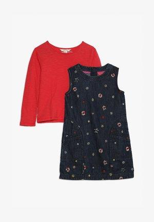 DARLENE SHIFT DRESS SET - Denim dress - denim blue
