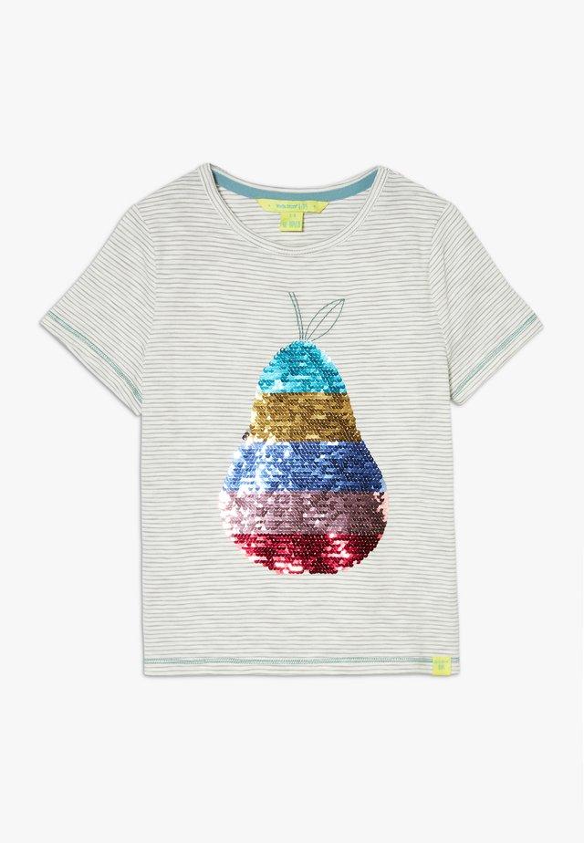 PEAR SEQUIN TEE - Camiseta estampada - stone grey