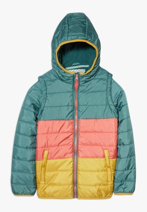 COLOURBLOCK PUFFER COAT GILET - Light jacket - multi pink