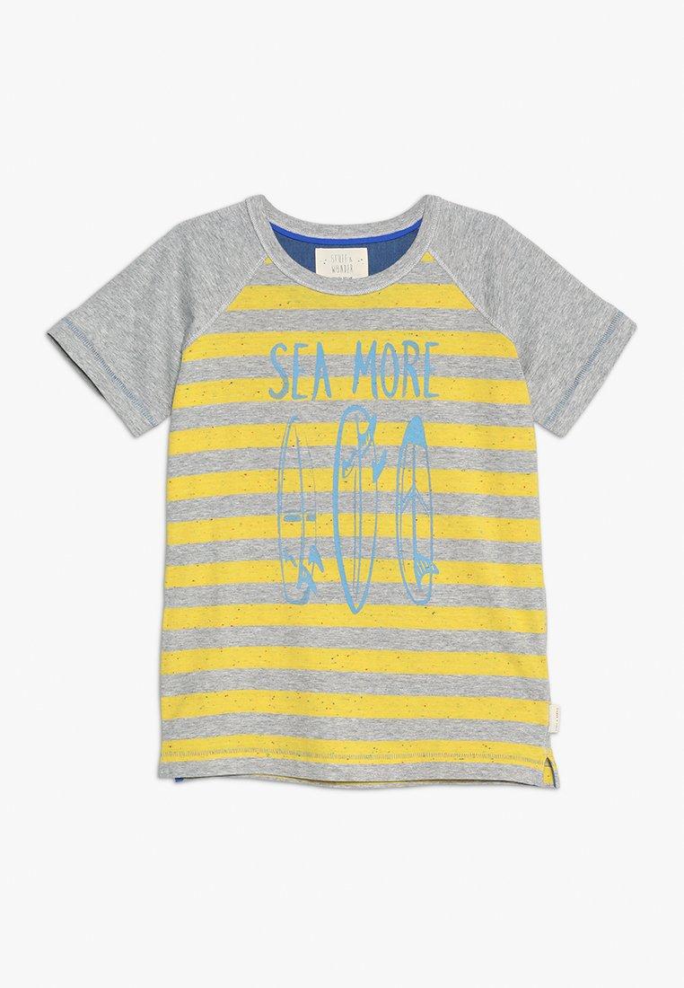White Stuff - SEA MORE TEE - Print T-shirt - grey/yellow