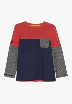 ABSTRACT  - Maglietta a manica lunga - dark blue/red