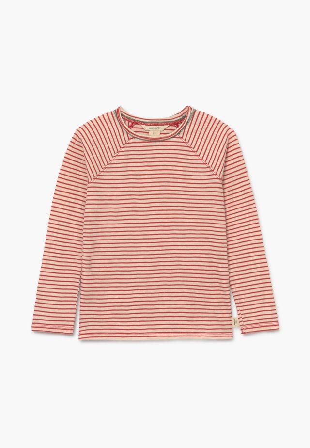 SETH STRIPE TEE - Pitkähihainen paita - rust red