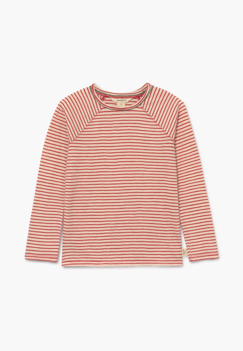 White Stuff - SETH STRIPE TEE - Long sleeved top - rust red